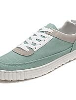 Недорогие -Для мужчин обувь Тюль Весна Осень Удобная обувь Кеды для Повседневные Белый Черный Зеленый