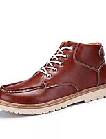 preiswerte -Herrn Schuhe PU Winter Pelzfutter Komfort Sneakers für Normal Schwarz Braun Blau