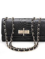 cheap -Women Bags PU Shoulder Bag Buttons for Casual All Season Light Gray Red Black