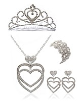 cheap -Women's Tiaras Bridal Jewelry Sets Rhinestone Imitation Diamond Alloy Geometric Heart Fashion European Wedding Party Body Jewelry 1