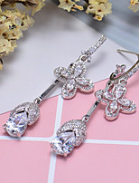 cheap -Women's Stud Earrings Hoop Earrings Rhinestone Rhinestone Silver Plated Jewelry Wedding Party Costume Jewelry