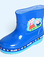 cheap -Girls' Shoes PVC Leather Spring Fall Comfort Rain Boots Boots for Casual Blue Fuchsia Yellow