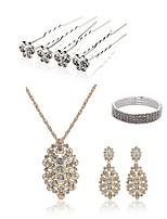 abordables -Mujer Palillos de Pelo Los sistemas nupciales de la joyería Cristal Moda Europeo Boda Fiesta Perla Artificial Diamante Sintético Legierung