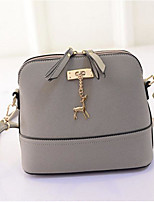 cheap -Women Bags PU Polyester Shoulder Bag Zipper for Casual All Season Black/White Light Grey Fuchsia Purple Black