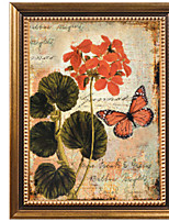 cheap -Floral/Botanical Oil Painting Wall Art,Wood Material With Frame For Home Decoration Frame Art Indoors