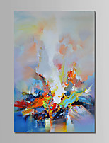 cheap -Hand-Painted Abstract Vertical,Comtemporary Simple Modern Canvas Oil Painting Home Decoration One Panel