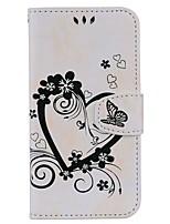 Недорогие -Кейс для Назначение Samsung J7 (2017) J5 (2017) Бумажник для карт со стендом Флип Рельефный С узором Чехол С сердцем Твердый Кожа PU для