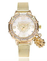 cheap -Women's Fashion Watch Wrist watch Chinese Quartz Imitation Diamond Alloy Band Heart shape Casual Gold