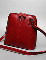 cheap -Women Bags Cowhide Shoulder Bag Zipper for Casual All Season Brown Blushing Pink Red Black Blue