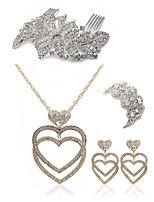 Недорогие -Жен. Гребни Свадебные комплекты ювелирных изделий Стразы Искусственный бриллиант Сплав Геометрической формы Сердце Мода европейский