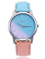 cheap -Women's Wrist watch Fashion Watch Chinese Quartz Large Dial Leather Band Casual Minimalist Blue Red Pink Rose