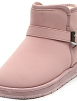 cheap -Women's Shoes Fleece Winter Comfort Snow Boots Boots Flat Heel Round Toe Mid-Calf Boots for Casual Khaki Pink Gray Black