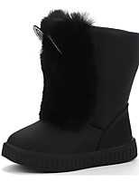 cheap -Girls' Shoes PU Winter Fall Comfort Snow Boots Boots Mid-Calf Boots for Casual Burgundy Black White