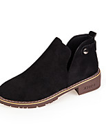 cheap -Women's Shoes PU Spring Fall Comfort Boots Flat for Outdoor Camel Green Black