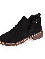 Недорогие -Жен. Обувь Полиуретан Весна Осень Удобная обувь Ботинки На плоской подошве для на открытом воздухе Черный Зеленый Верблюжий
