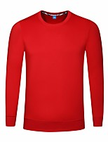 cheap -Men's Sports Sweatshirt Solid Round Neck Micro-elastic Polyester Long Sleeve Spring/Fall
