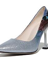 Недорогие -Обувь Деним Материал на заказ клиента Дерматин Весна Лето Оригинальная обувь Туфли лодочки Обувь на каблуках На шпильке для Свадьба Для