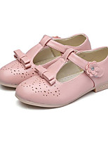 cheap -Girls' Shoes PU Spring Fall Tiny Heels for Teens Flower Girl Shoes Heels for Casual White Black Red Pink