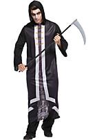 Недорогие -Смерть с косой Косплэй Kостюмы Муж. Хэллоуин Фестиваль / праздник Костюмы на Хэллоуин Черный Halloween