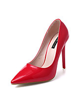 cheap -Women's Shoes Leatherette Spring Fall Basic Pump Heels Stiletto Heel Pointed Toe for Wedding Party & Evening Red Black White