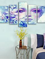 cheap -Canvas Print Rustic Modern,Five Panels Canvas Vertical Print Wall Decor Home Decoration