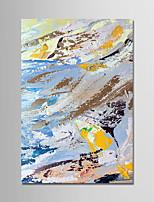 Недорогие -Ручная роспись Абстракция Вертикальная, Современный Modern холст Hang-роспись маслом Украшение дома 1 панель