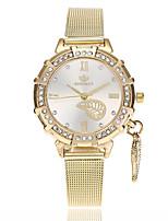 Недорогие -Жен. Наручные часы Модные часы Китайский Кварцевый Имитация Алмазный сплав Группа Листья На каждый день Золотистый