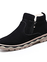 cheap -Men's Shoes PU Spring Fall Fashion Boots Comfort Boots for Casual Black Brown Blue