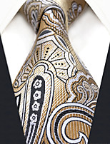 cheap -Silk Necktie,Vintage Work Casual All Seasons Khaki