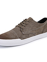 cheap -Men's Shoes Leather Spring Fall Light Soles Sneakers for Casual Black Gray Brown