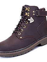 cheap -Men's Shoes PU Spring Fall Comfort Boots for Outdoor Gray Brown