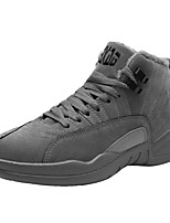 cheap -Men's Shoes PU Spring Fall Comfort Sneakers for Casual Black Gray Almond
