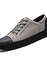 Недорогие -обувь Кашемир Весна Осень Светодиодные подошвы Кеды для Повседневные Черный Серый