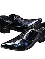 cheap -Men's Shoes Real Leather Spring Fall Formal Shoes Novelty Oxfords for Wedding Party & Evening Black/Blue Black/Red
