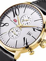 Недорогие -Муж. Повседневные часы Модные часы Наручные часы Китайский Кварцевый Календарь Защита от влаги Хронометр Повседневные часы Натуральная