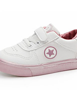 cheap -Girls' Shoes PU Spring Fall Comfort Sneakers for Casual White/Yellow White/Silver Pink/White