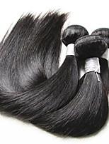 Недорогие -9a качество бразильского шелка прямые волосы virgin 3 пучки 300g серия бразильские remy выдвижения человеческих волос ткут естественный