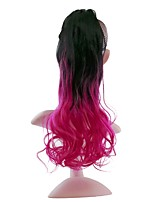 cheap -20 inch Pink Drawstring Curly Tie Up Synthetic Hair Piece Hair Extension