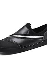 baratos -Homens sapatos Pele Napa Todas as Estações Conforto Mocassins e Slip-Ons para Casual Escritório e Carreira Preto Cinzento Vinho