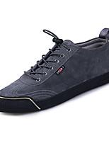 Недорогие -Муж. обувь Свиная кожа Зима Осень Удобная обувь Кеды для Повседневные Черный Серый