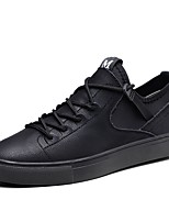 cheap -Shoes Cowhide Leather Spring Fall Driving Shoes Comfort Sneakers for Casual Office & Career Black Gray