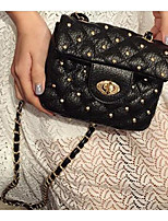 cheap -Women Bags PU Shoulder Bag Zipper for Casual Outdoor Spring Summer Black