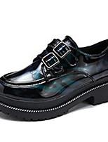 preiswerte -Damen Schuhe Gummi Frühling Herbst Komfort Outdoor Flacher Absatz Runde Zehe für Draussen Schwarz Grün