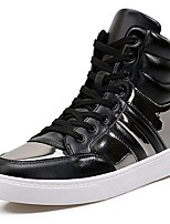 Недорогие -обувь Искусственное волокно Зима Осень Удобная обувь Кеды для Повседневные на открытом воздухе Белый Черный