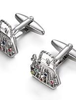 cheap -Geometric Silver Cufflinks Alloy Elegant Fashion Birthday Gift Men's Costume Jewelry