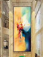 Недорогие -Абстракция Масляные картины Предметы искусства,Полистирен материал с рамкой For Украшение дома Предметы искусства в рамках Гостиная