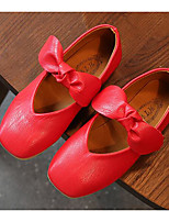 cheap -Girls' Shoes Leatherette Spring Fall Flower Girl Shoes Comfort Flats for Casual White Brown Red Pink