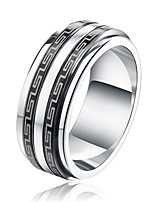 cheap -Men's Band Rings Simple Casual Stainless Steel Jewelry Gift Street