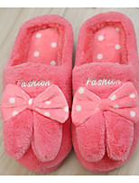 cheap -Women's Shoes Fleece Winter Fall Comfort Slippers & Flip-Flops Flat for Casual Burgundy Red Gray Black