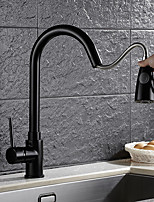 cheap -Antique Pull-out/­Pull-down Vessel Rotatable Ceramic Valve Single Handle One Hole Oil-rubbed Bronze , Kitchen faucet
